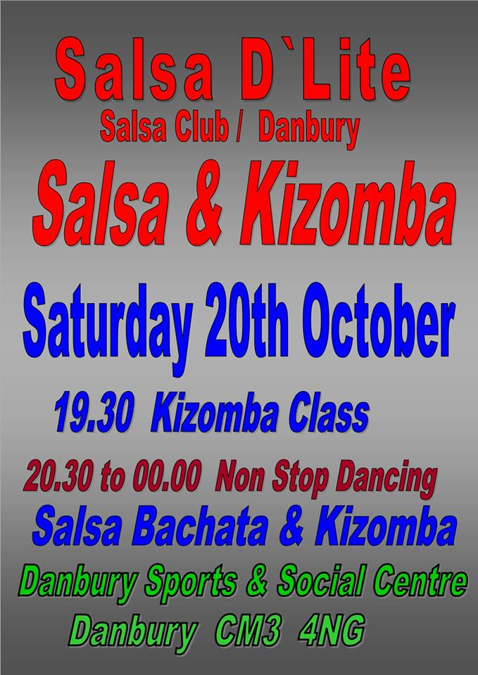 Saturday salsa and kizomba in Danbury