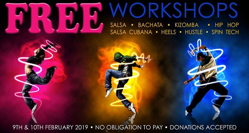 Fulham, salsa, bachata, hustle, kizomba workshops