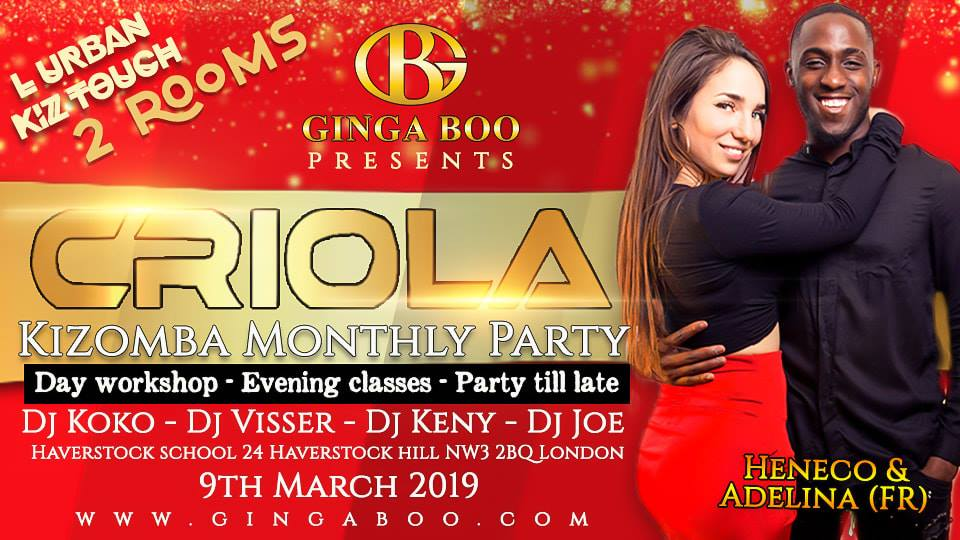 Kizomba Criola party in Chalk Farm