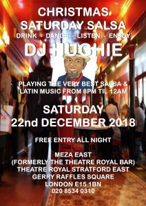 DJ Hughie, salsa in Stratford