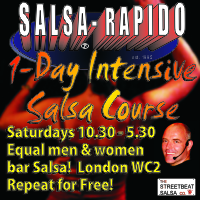 Intensive salsa  beginners workshop in Charing Cross