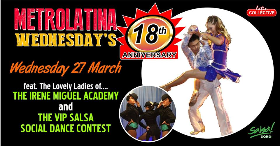 18th Anniversary at Bar Salsa Soho