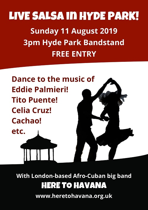 Hyde Park live salsa band 11th August