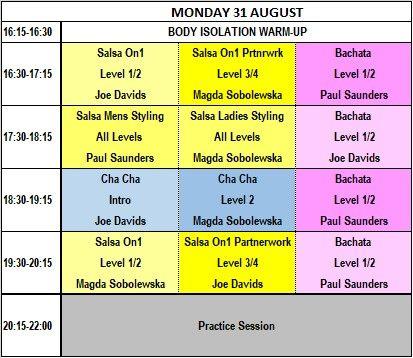 31.8.20 Bank Holiday Monday salsa and bachata in London