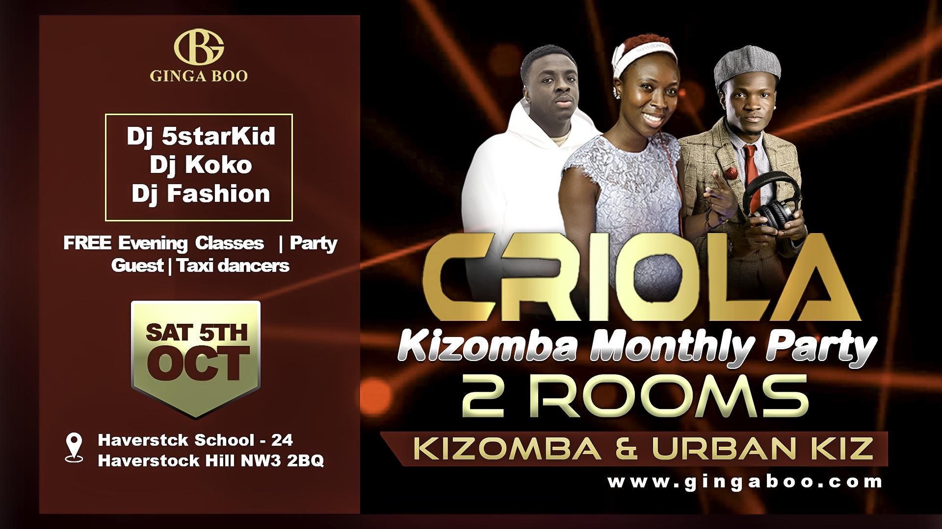 Kizomba and Urban kiz in Chalk Farm